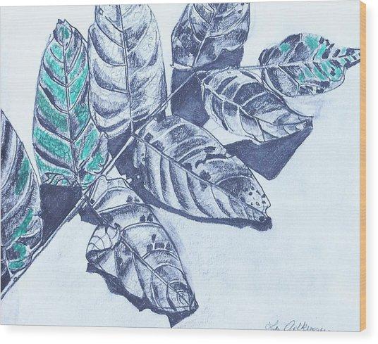 Exploring A Leaf 1 Wood Print