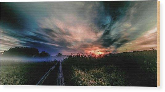 Explosive Morning #h0 Wood Print