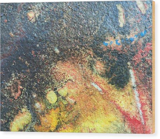 Explosive Sunrise Wood Print