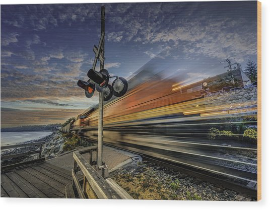 Express Train Wood Print