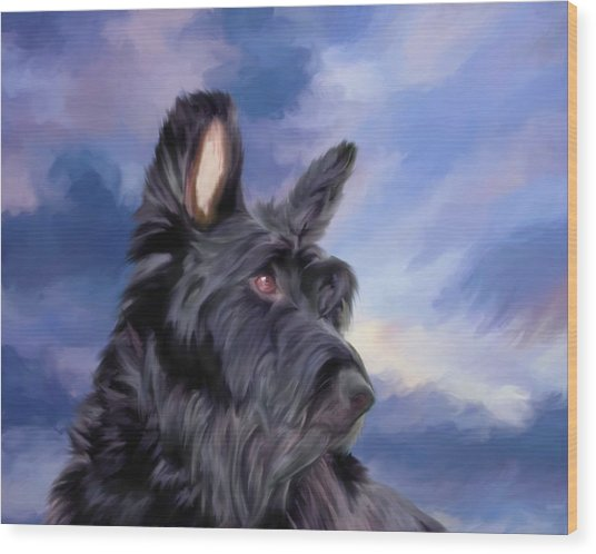 Expression Is Everything Scottish Terrier Dog Wood Print