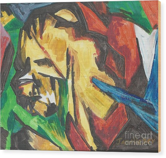 Wood Print featuring the painting Expressionism by Janelle Dey