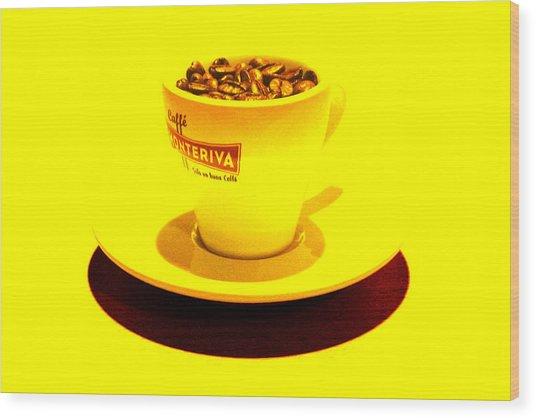 Expresso.piccolo.giallo Wood Print by Robert Litewka