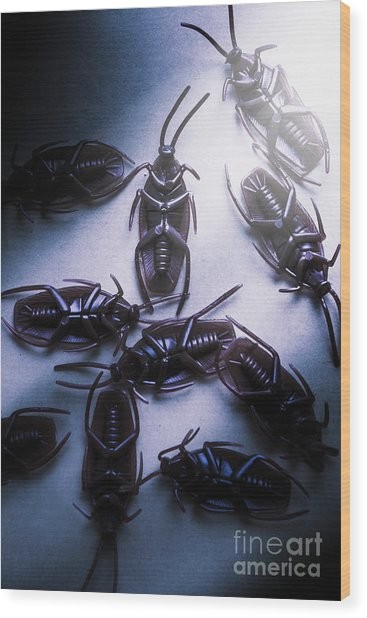 Extermination Wood Print