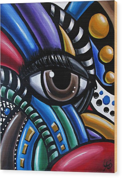 Eye Abstract Art Painting - Intuitive Chromatic Art - Pineal Gland Third Eye Artwork Wood Print