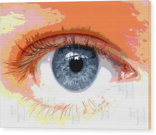 Eye Cu 2 Wood Print