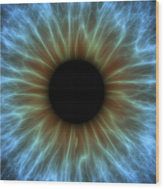 Eye, Iris Wood Print