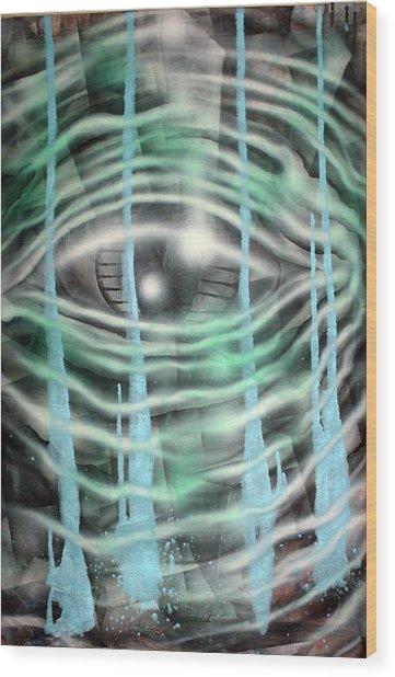 Eye Knew Wood Print by Leigh Odom