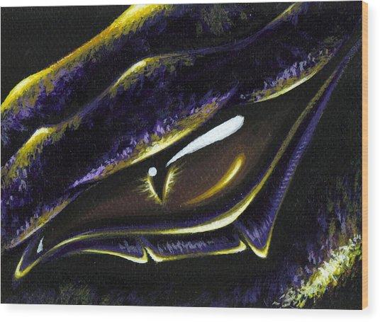 Eye Of Ametrine Wood Print