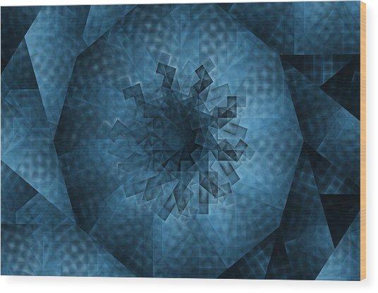 Eye Of The Crystal Wood Print