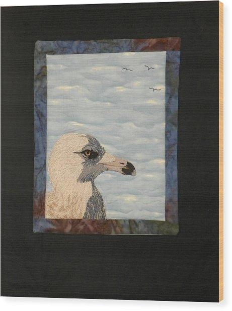 Eye Of The Gull Wood Print