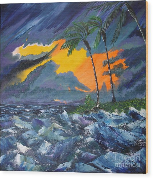 Eye Of The Storm Wood Print by Susan Kubes