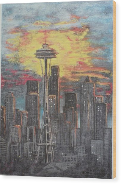 Eye On The Needle Wood Print by Dan Bozich