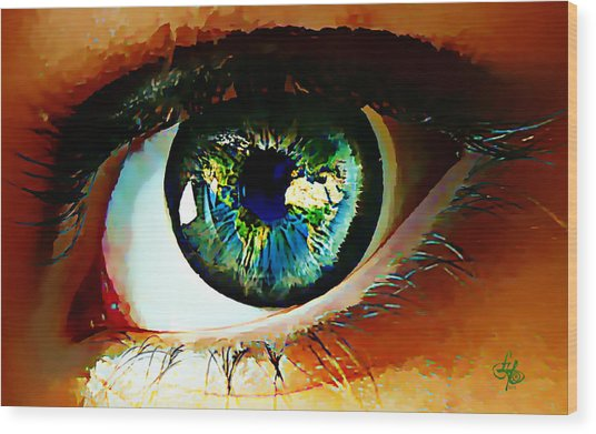Eye On The World Wood Print