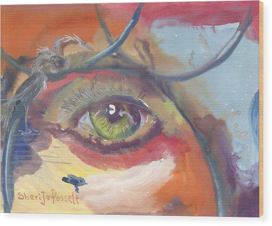 Eye See A Bird Wood Print