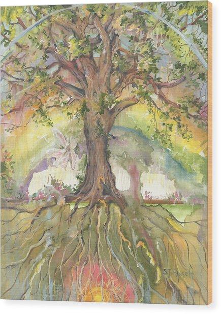 Eye See My Healing Tree Wood Print