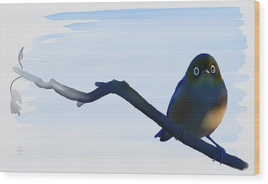 Eye To Eye With Silvereye Wood Print