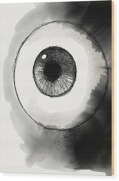 Wood Print featuring the digital art Eyeball by Antonio Romero