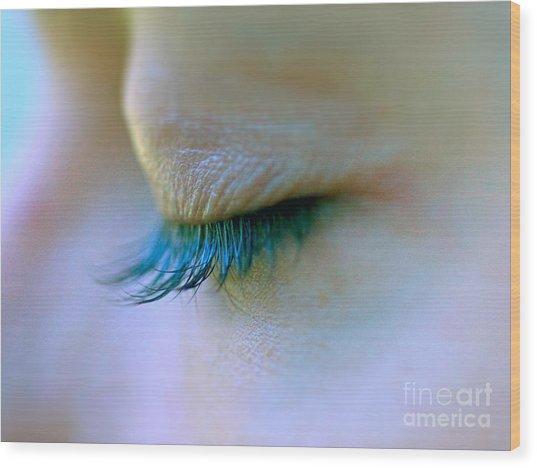 Eyelashes Wood Print