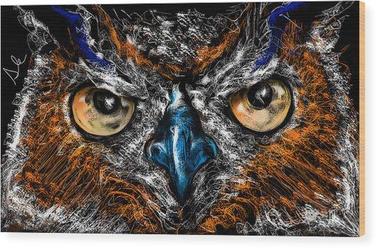Eyes In The Night... Wood Print