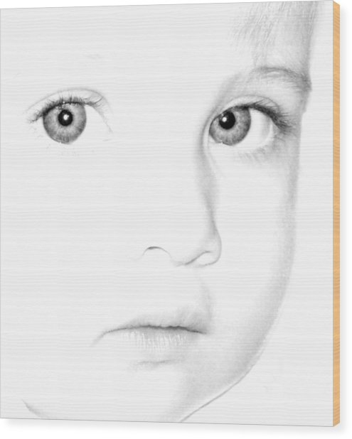 Eyes Of A Child Wood Print