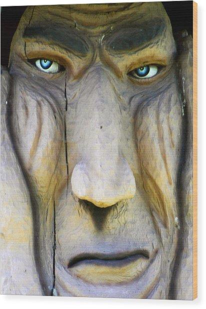 Eyes Of A Troll Wood Print