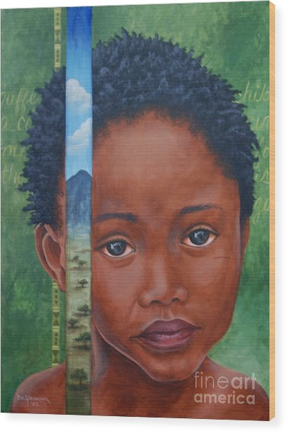 Eyes Of Africa Wood Print by Dee Youmans-Miller
