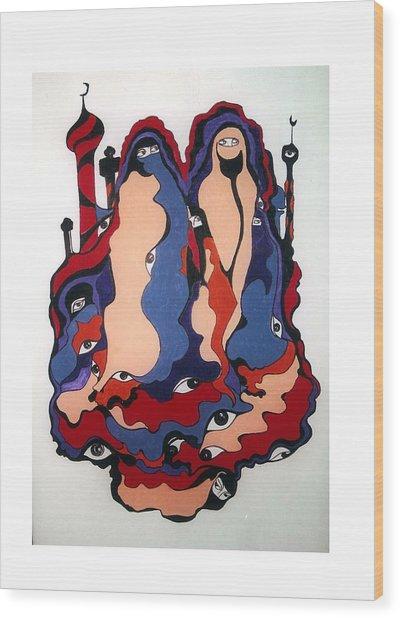Eyes Of Islam Wood Print by Rae Chichilnitsky