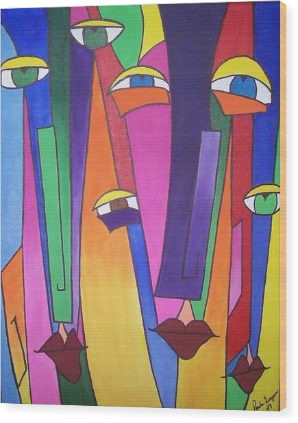 Eyes On You Wood Print by Paula Ferguson