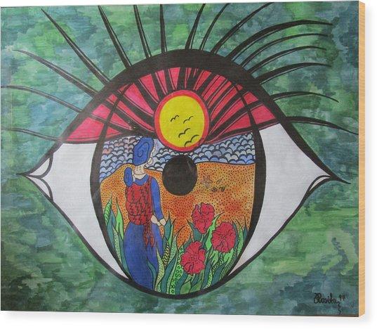 Eyewitness Wood Print
