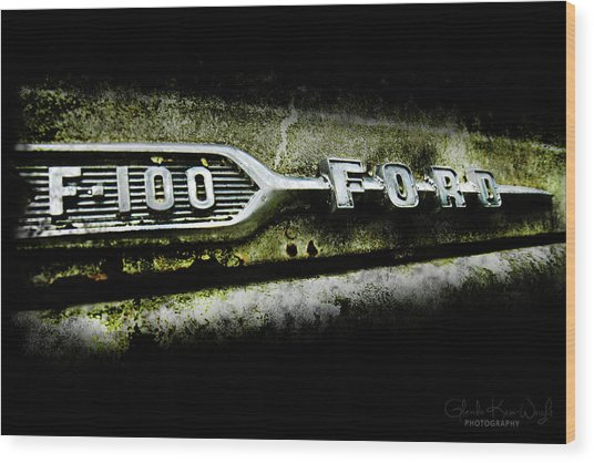 F-100 Ford Wood Print