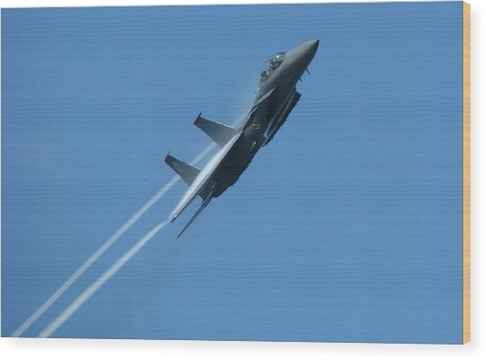 F-15 Strike Eagle Wood Print