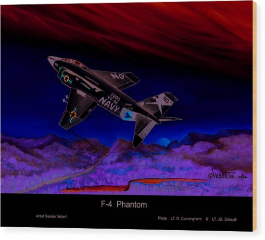F-4 Phantom Wood Print by Dennis Vebert