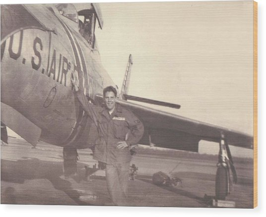 F-84f Thunderjet 1955 Wood Print