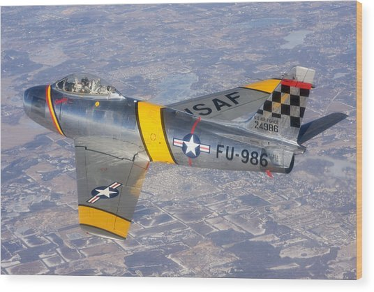 F-86 Sabre Flying 1 Wood Print