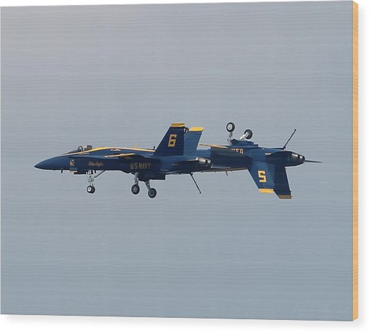 F/a 18 Hornet In Tandem Wood Print