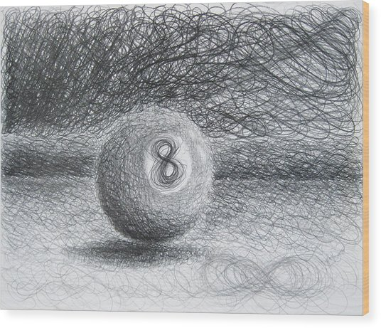 F. Eight Ball No. 2 Wood Print
