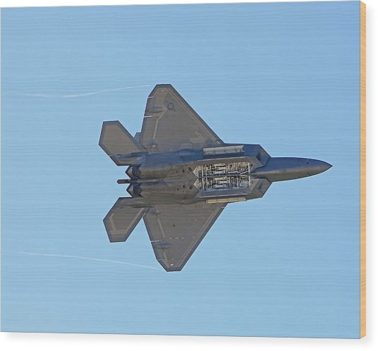 F22 Raptor Munitions Bays Open Wood Print by Dave Clark