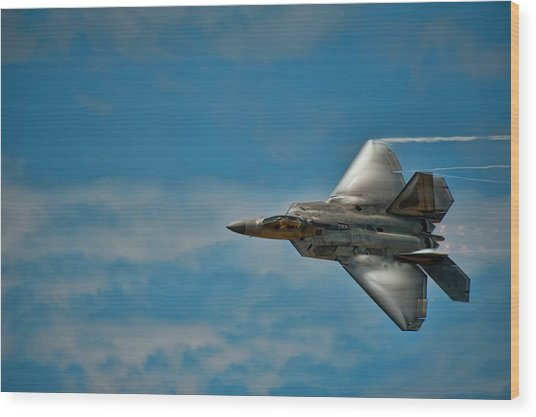 F22 Raptor Steals The Show Wood Print