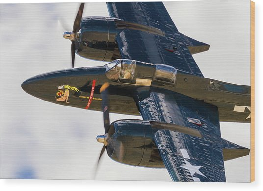 F7f Tigercat Here Kitty, Kitty Wood Print