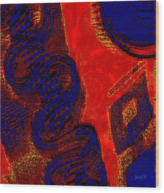 Fabric - A Combination Of Beauty Wood Print by Fania Simon