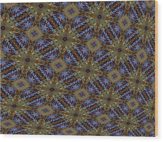 Fabric Fantacy Wood Print by Ricky Kendall
