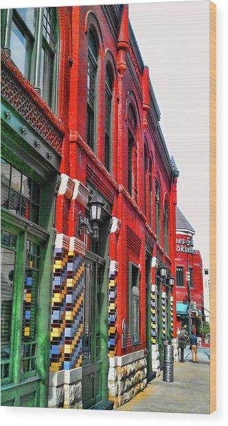 Facade Of Color Wood Print