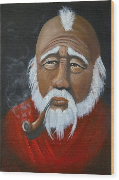 Face Of Asia Wood Print