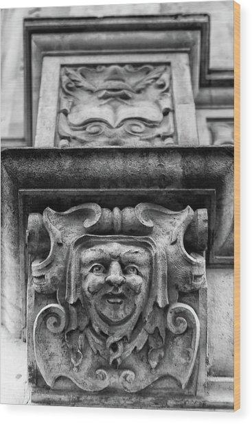 Face Of London Wood Print
