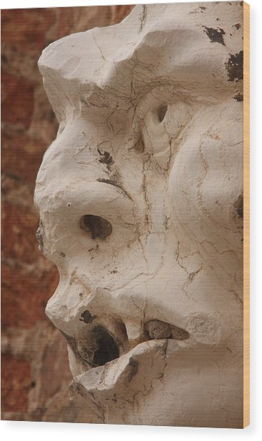 Face On San Trovaso Bell Tower Wood Print by Michael Henderson