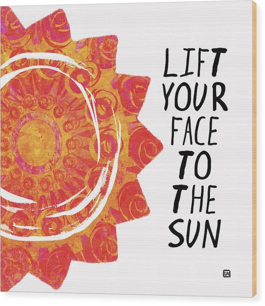 Face To The Sun Wood Print