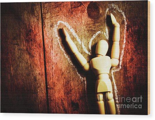 Faceless Victim Wood Print