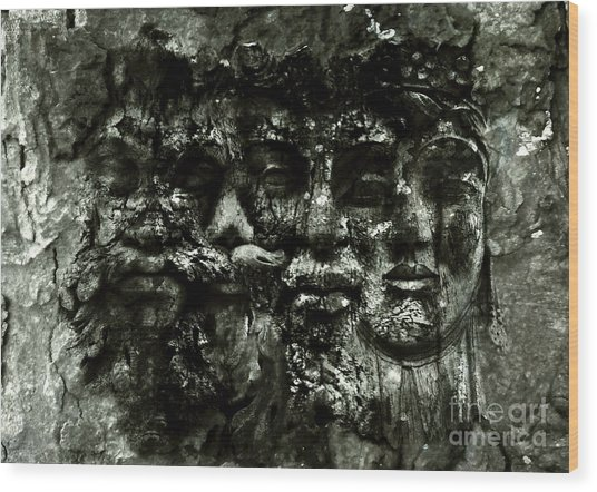 Faces Wood Print