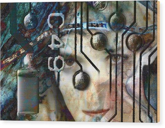 Faces No. 1 Wood Print